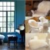 Krzno i čupave deke kao dekoracija