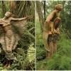 Fantastične drvene skulpture unutar prirode