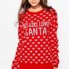 ASOS TALL 'This Girl Loves Santa' Christmas Jumper €47.06