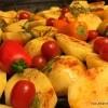 Pečeni krumpir u mediteranskim trava