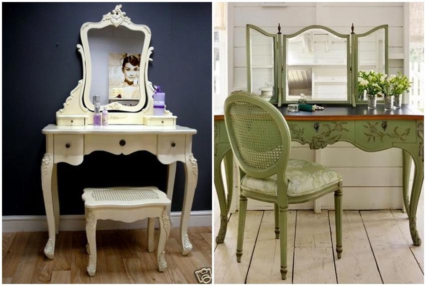 Starinski ukrasni stolovi za šminkanje nikad nisu izašli iz mode