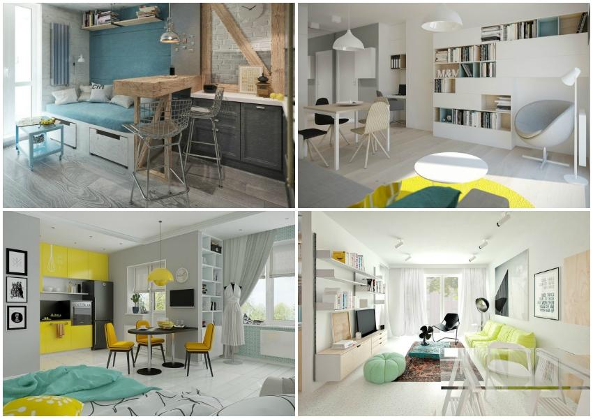 Saznajte kako urediti stan manji od 50 kvadrata na 4 načina