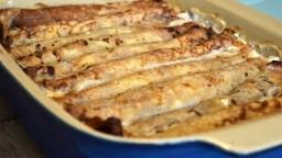 Zapečene palačinke sa sirom i kiselim krastavcima