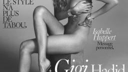 Gigi Hadid pozirala gola na svojoj prvoj naslovnici za Vogue Paris