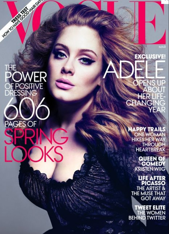 10. Adele 515 stranica u 2 časopisa