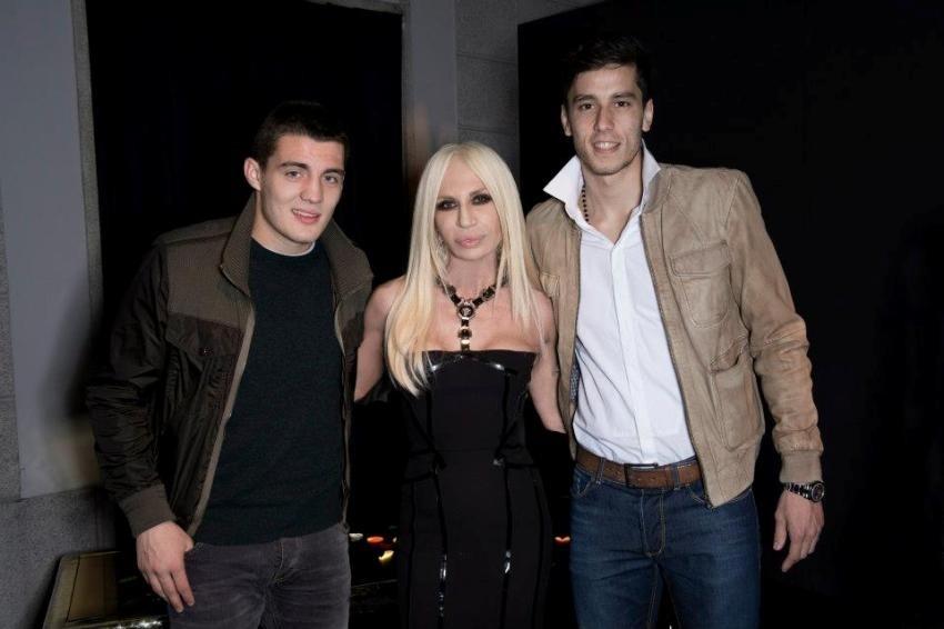 Mateo Kovačić, Donatella Versace i Ricky Alvarez