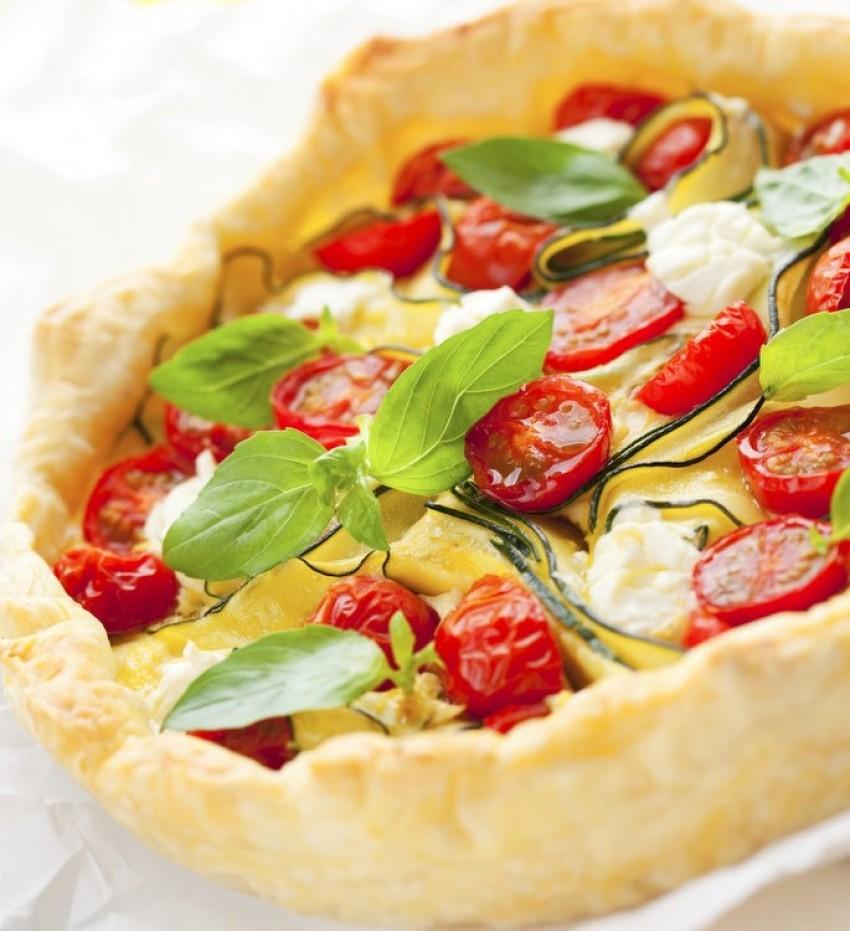 Quiche (pita) s tikvicama i chery rajčicama