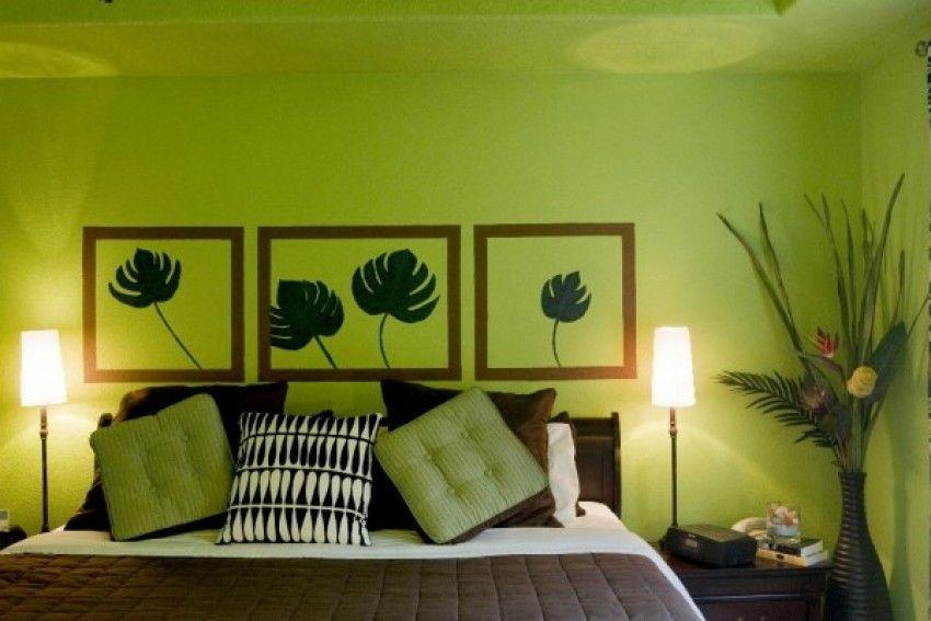 Zelena spavaća soba