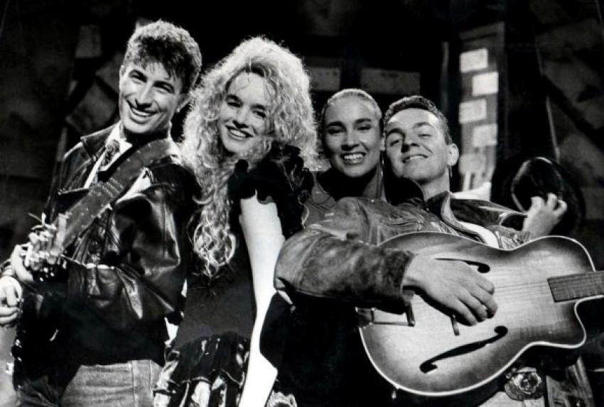 Severina, Burnać, I Bee i Sandi kao mladi pjevači u pjesmi Oglasi pronađena snimka