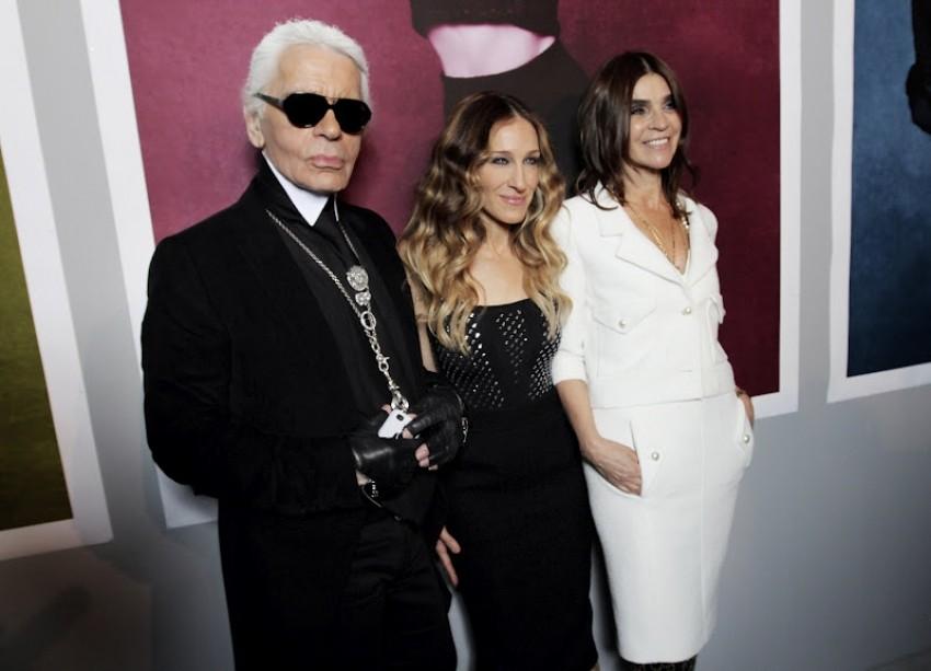 Karl Lagerfeld, Sarah Jessica Parker i Carine Roitfeld