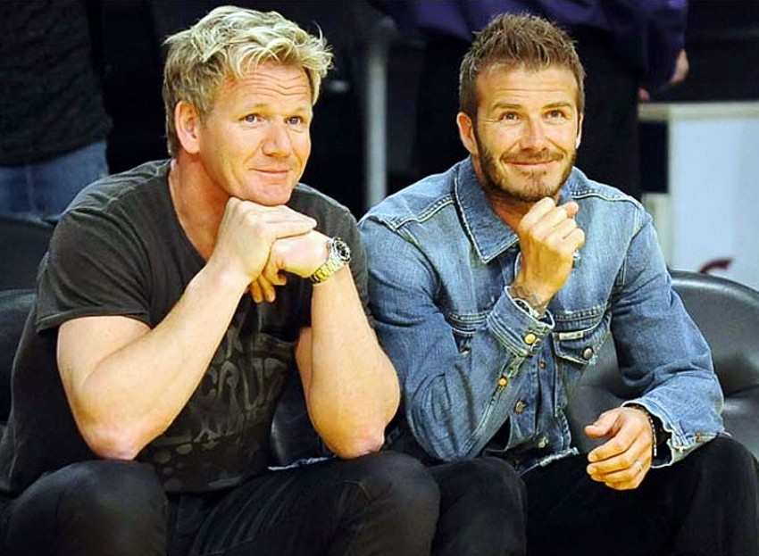 David Beckham i Gordon Ramsey