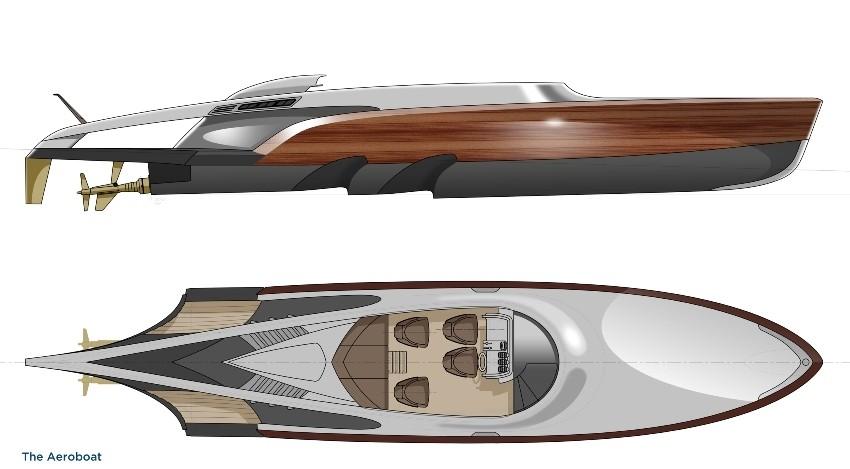 Aeroboat luksuzna jurilica - gliser, jahta
