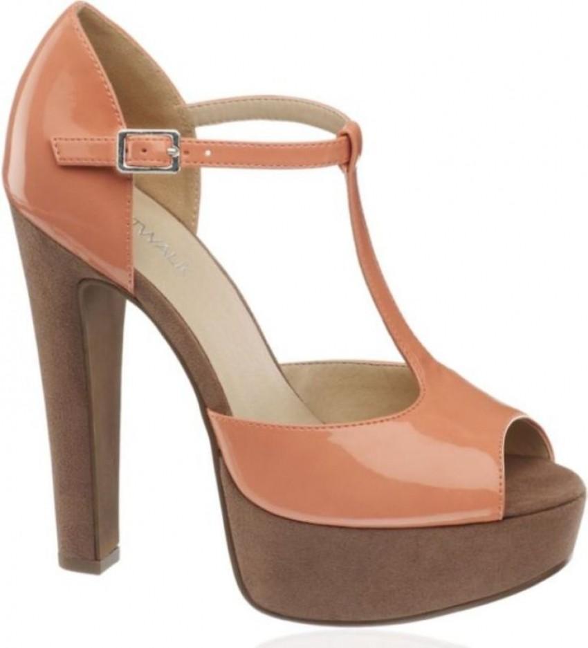 Deichmann trendovske ljetne cipele štikle visoka peta, roze, nude,  pastelne, drvene trendi moderne