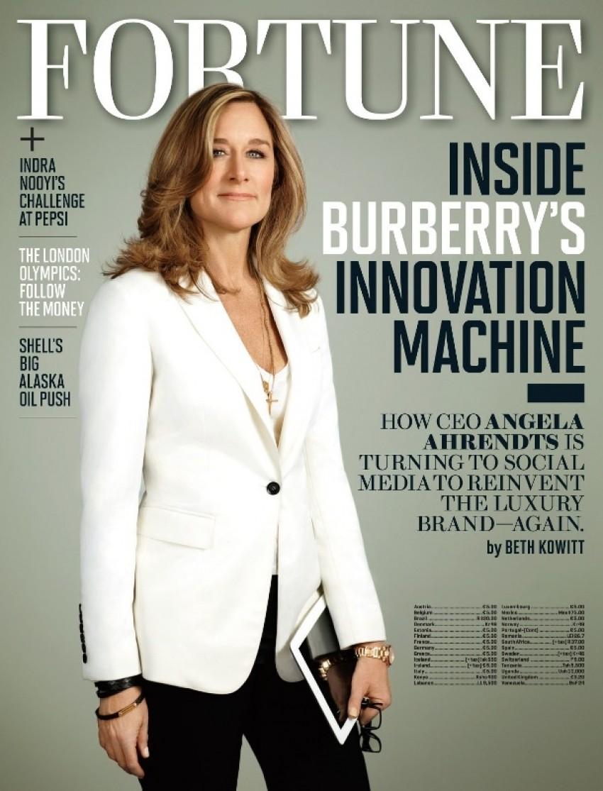 Čelna žena Burberrya, Angela Ahrendts  menadžer je tj. čelnik kompanije koji najviše zaruđuje u Brtanijji, čak 16.9 milijuna funti godišnje