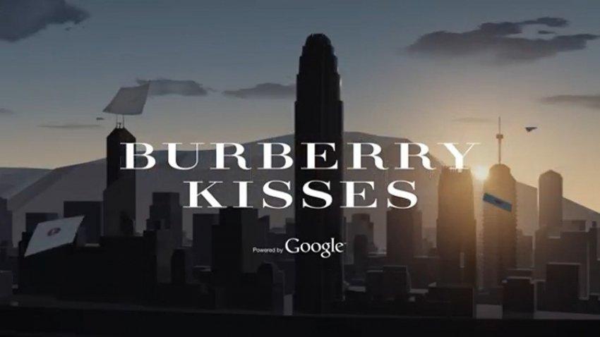 Burberry kisses aplikacija by Google  šalje digitalne poljupce diljem svijeta