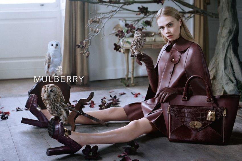 Cara Delevingne za Mulberry