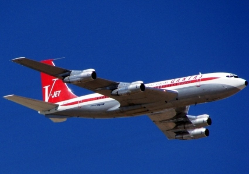 ex-Qantas Boeing 707 John Travolte
