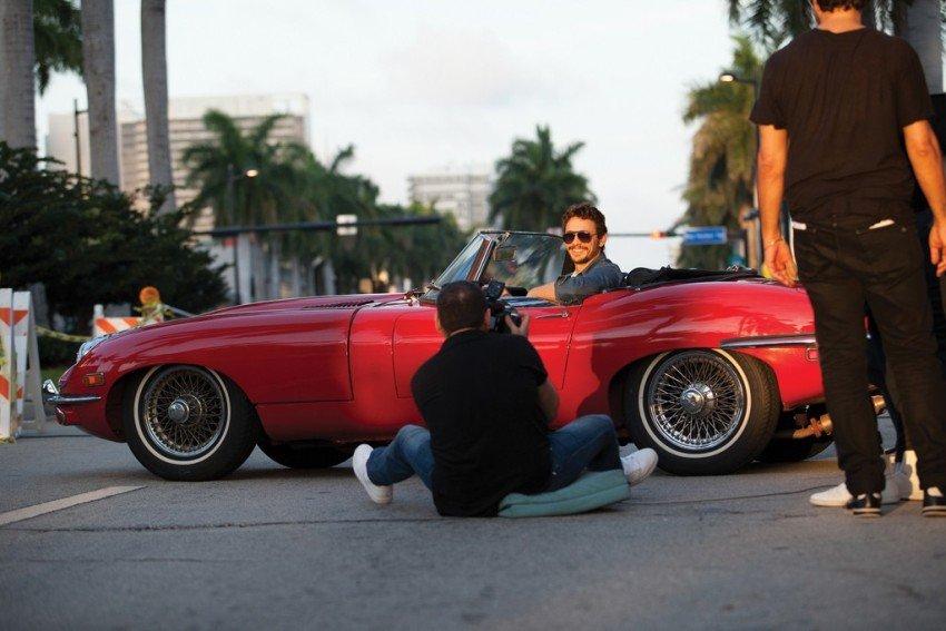 James Franco na snimanju kampanje