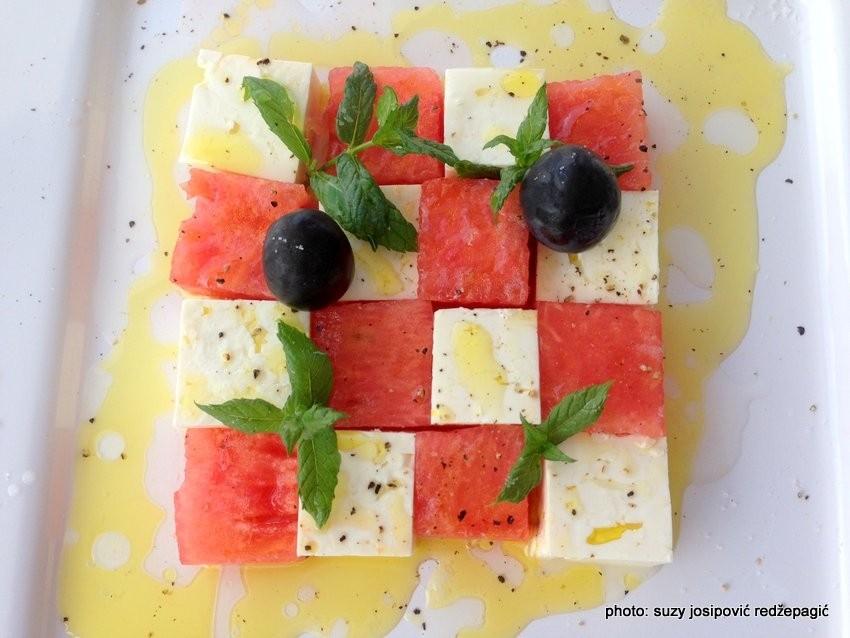 Salata s lubenicom i feta sirom