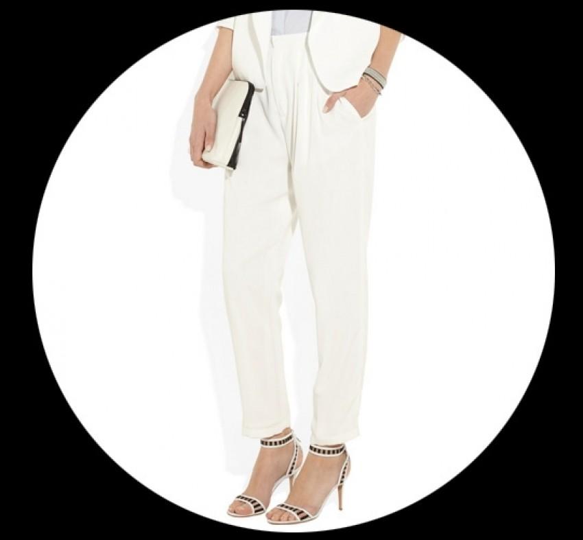 Šik bijele hlače