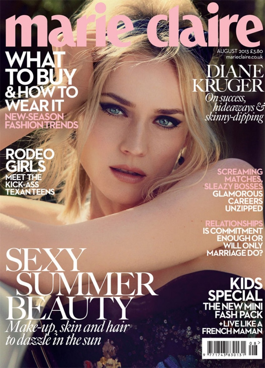 Diane Kruger za Marie Claire