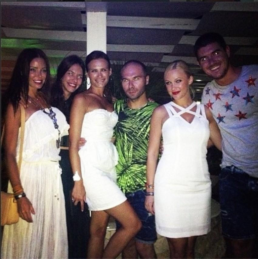 Kristina Bradač s prijateljima