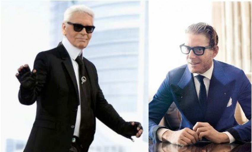 Karl Lagerfeld i Lapo Elkann