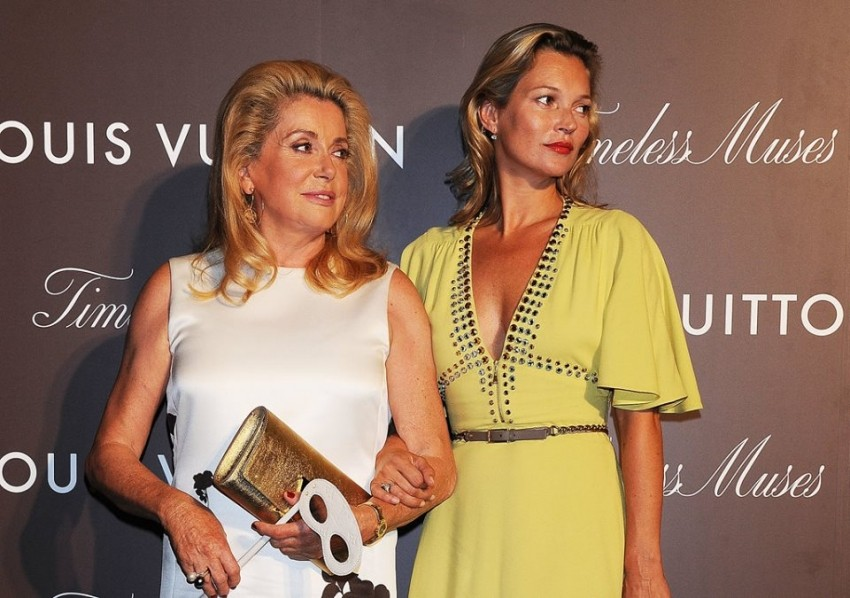 Kate Moss i Catherine Deneuve