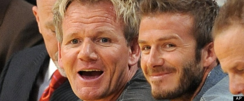 David Beckham i Gordon Ramsay