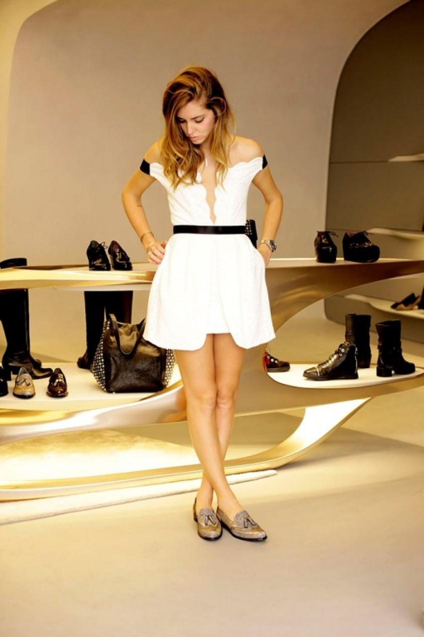 Blogerica Chiara Ferragni u novoj  Stuart Weitzman trgovini u Milanu