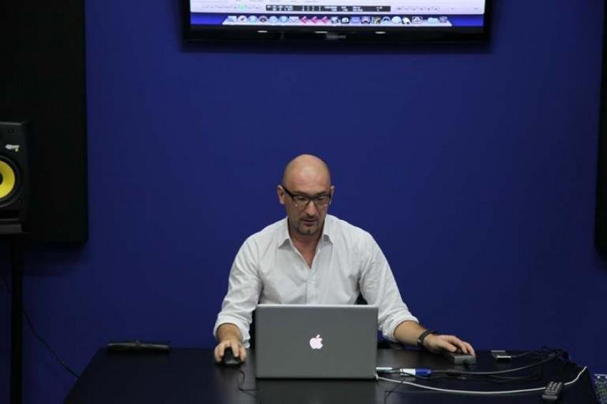 Boris Đurđević drži predavanje o masteringu
