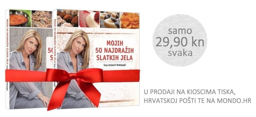 Komplet kuharica - slana i slatka Suzy Josipović Redzepagić - savršen blagdanski poklon za Božić za mamu i prijateljicu te obitelj