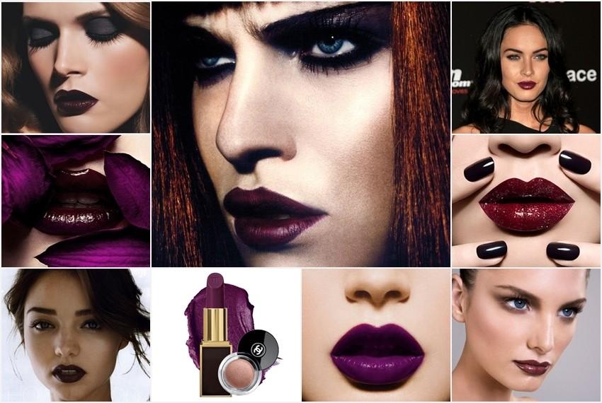 Usne boje šljive za Novu godinu - prijedlog šminke