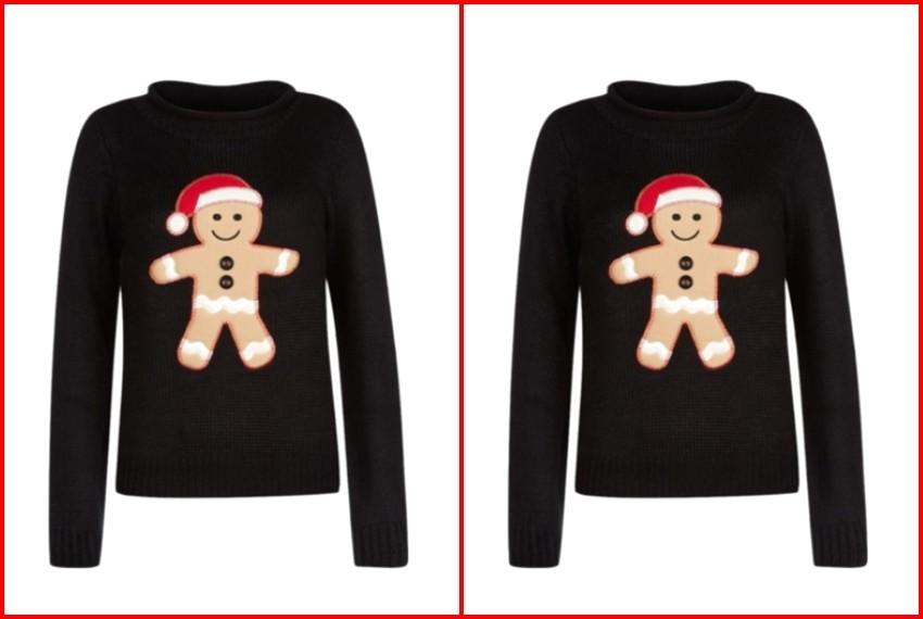 Božićni džemperi, Crni medenjak džemper, 165 kn, New Look