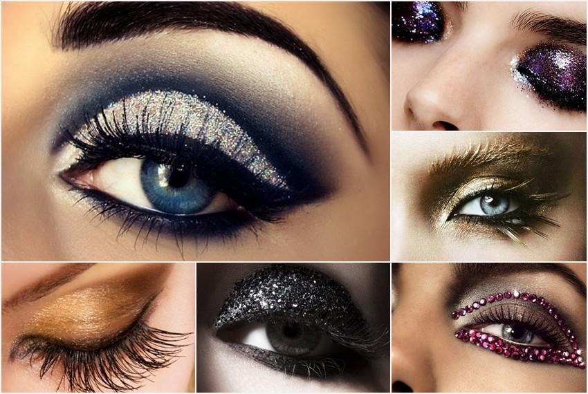 Šljokice na make-upu za Novu godinu- prijedlog šminke- prijedlog šminke