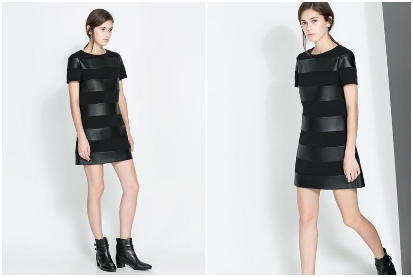 Zara crna kožna haljina, 499 kn