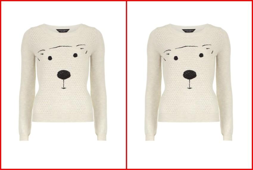 Božićni džemperi Polarni medvjed bijeli džemper, 275 kn, Dorothy PerkinS