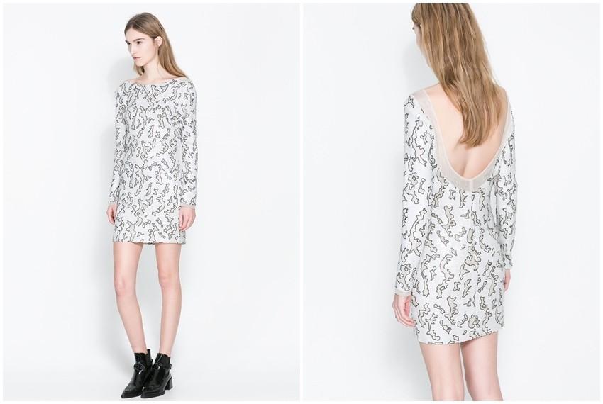 Zara bijela šljokičasta haljina, 599 kn