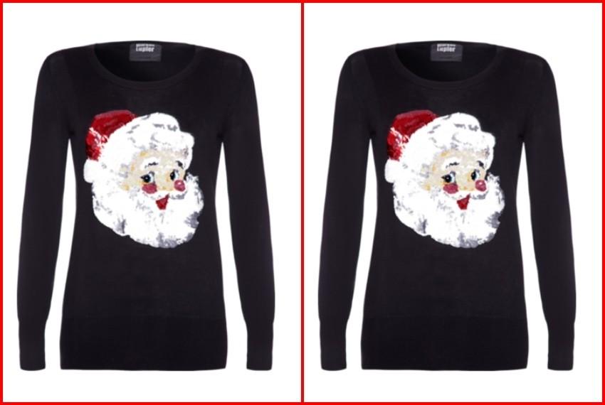 Božićni džemperi, Djed Božićnjak crni džemper, 2.475 kn, Austique