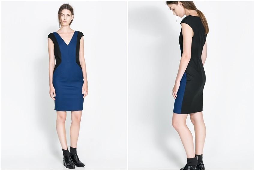 Zara crno plava haljina, 299 kn