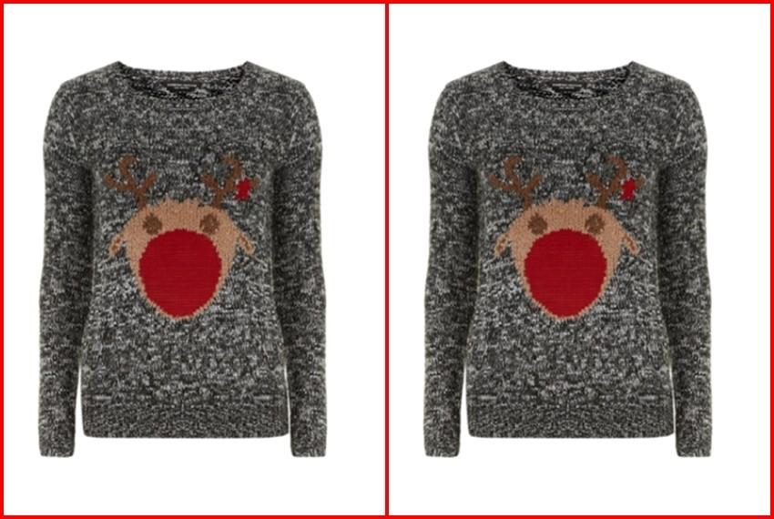 Božićni džemperi, 1. Sivi Rudolf džemper, 230 kn, dorothyperkins.com