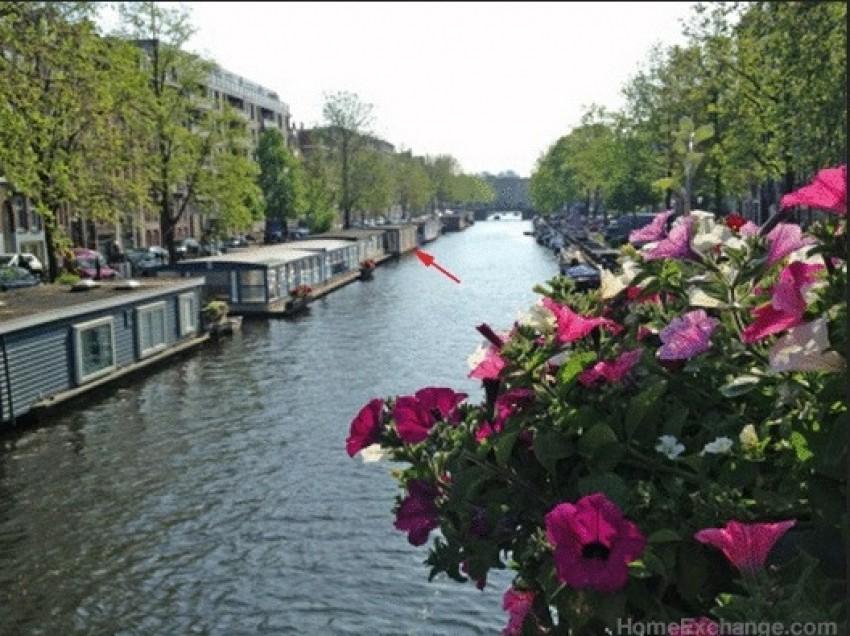 Romantična kuća-brod, Amesterdam, Nizozemska