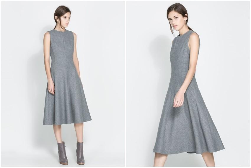 Zara vunena siva haljina, 899 kn