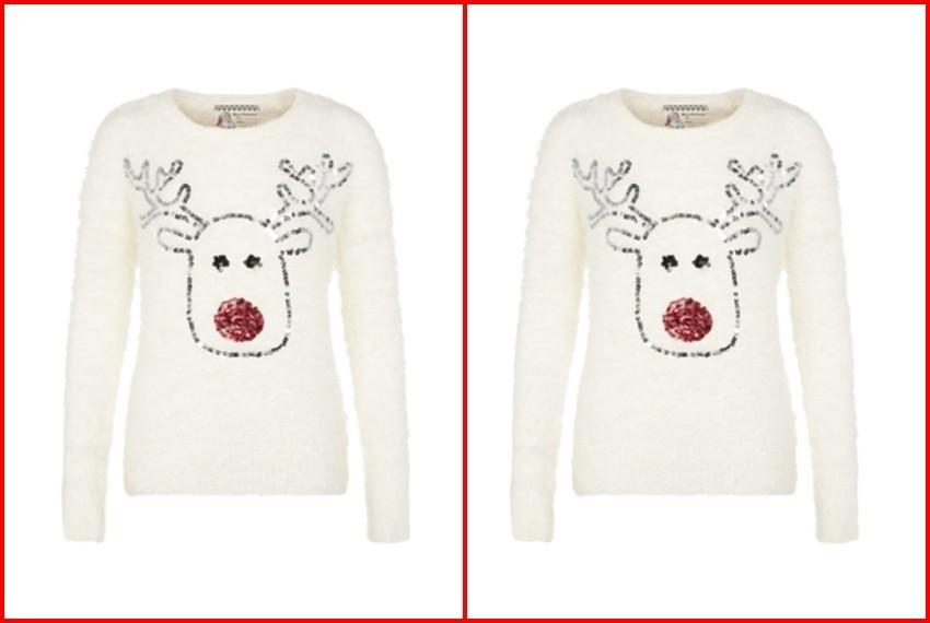 Božićni džemperi, Bijeli sob džemper, 140 kn, Newl Lok
