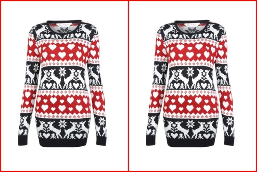 Božićni džemperi, Crveno-crni džemper s jelenom, 195 kn, Miss Selfridge