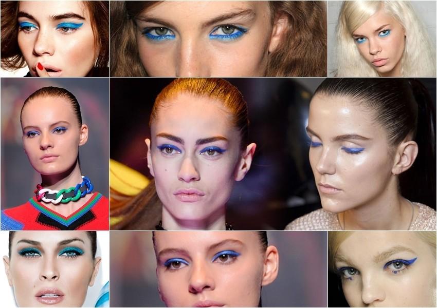 Plavi eyeliner na očima