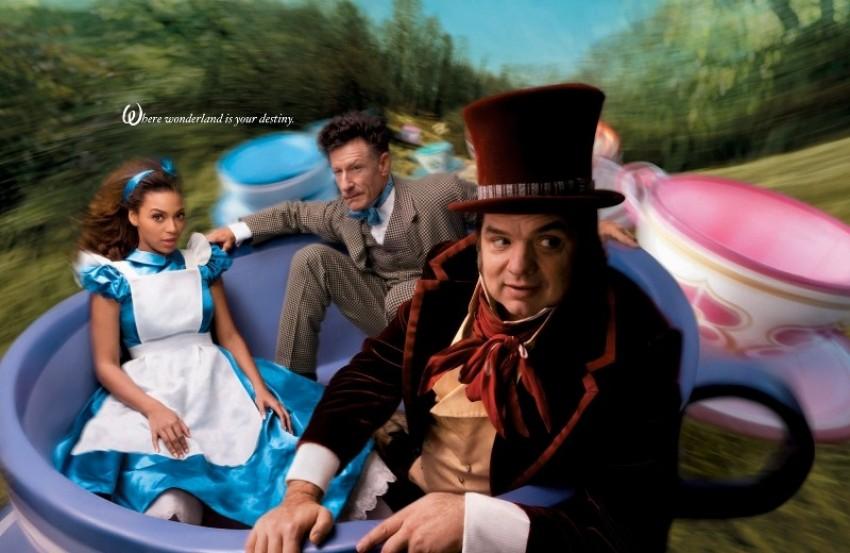 Beyonce, Oliver Platt i Lyle Lovett kao Alisa u Zemlji čudesa, Mad Hatter i March Hare