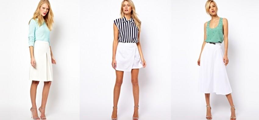 asos bijela suknja