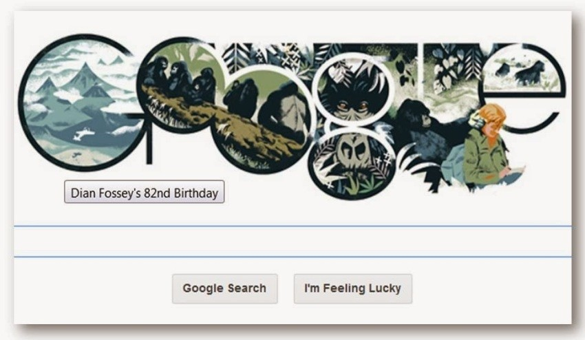 Google Doodle u čast Dian Fossey