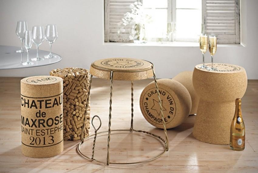 Namještaj od pluta za ljubitelje vina i šampanjca